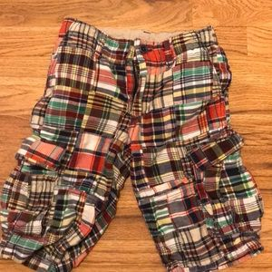 Boys' madras cargo shorts. Gap Kids